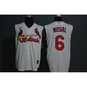 St. Louis Cardinals Stan Musial White Jersey